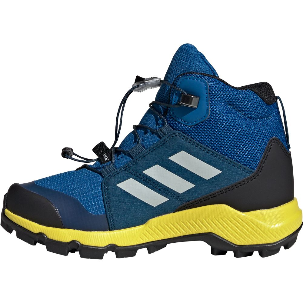 adidas Terrex Mid GTX® Kids blue beauty grey one shock yellow