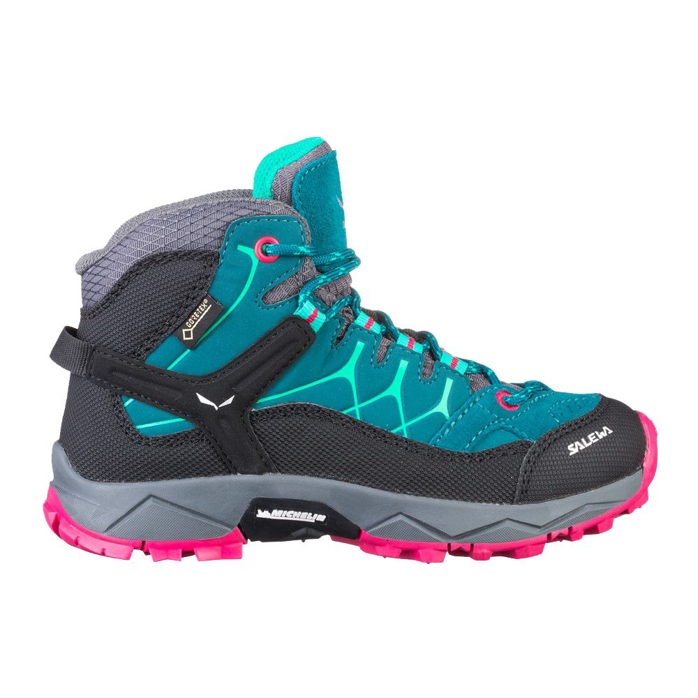 fc3ab1dd2a1 SALEWA - Jr Alp Trainer Mid GTX Hiking Boots Kids A sturdy, mid-cut kids'  boot with a MICHELIN® outsole and w