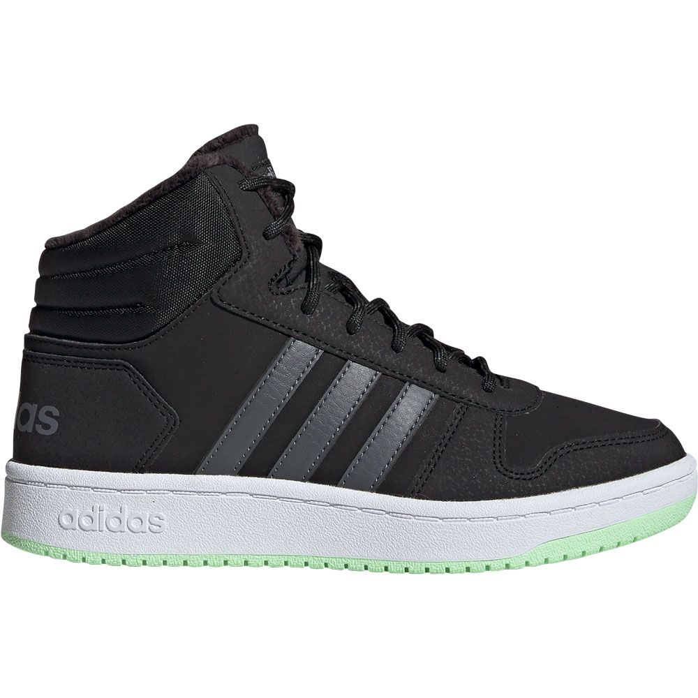 adidas Hoops 2.0 Mid Basketball Shoes Kids core black grey six grey four