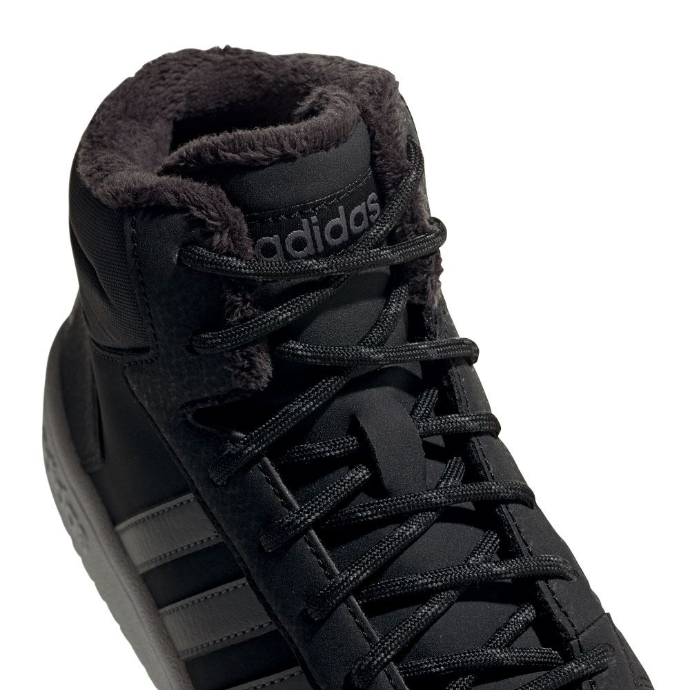 Hoops 2.0 Mid Basketball Shoes Kids core black grey six grey four
