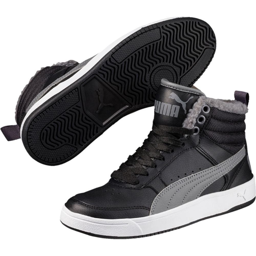 Puma Rebound Street v2 Fur Shoes Kids black at Sport Bittl