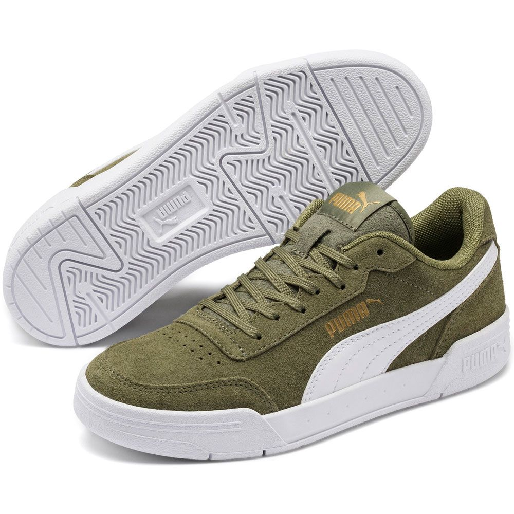 Puma - Caracal SD Jr Sneaker Kids deep lichen green puma white puma team  gold