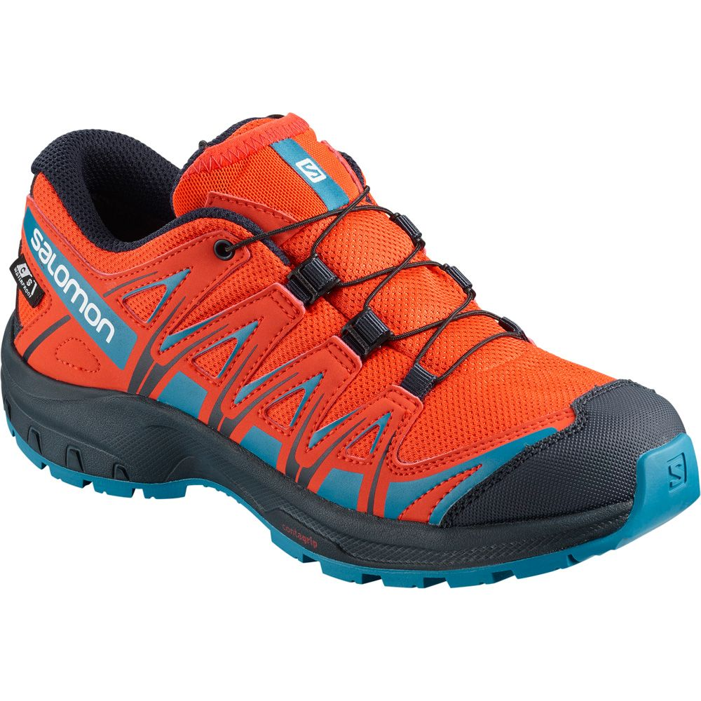Salomon XA Pro 3D CSWP J Kids herrytomato navy at Sport