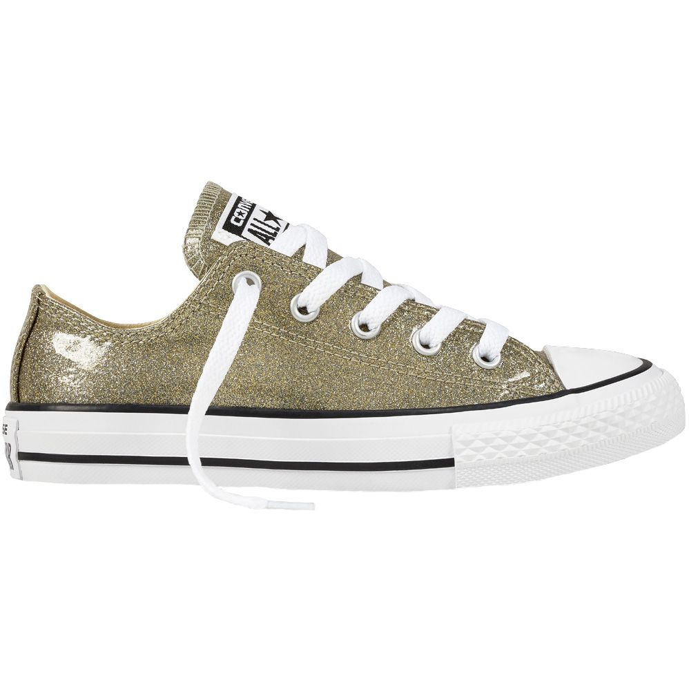 Converse All Star Gold Glitter Low Top SNEAKERS Shoes