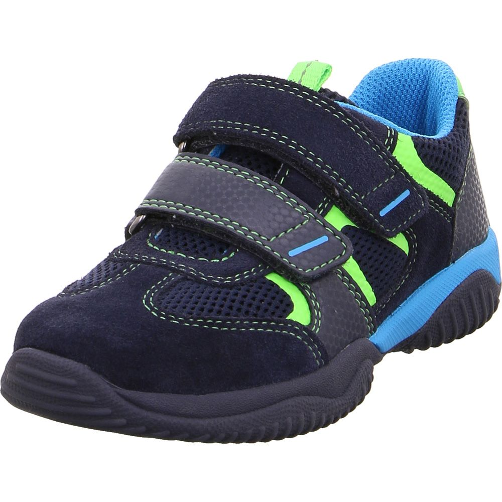 Storm Ledersneaker Jungen blau