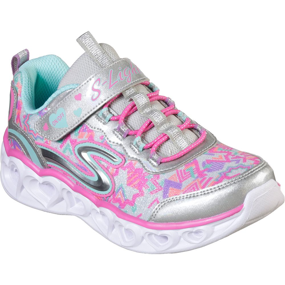 S Lights Heart Lights Sneaker Girls