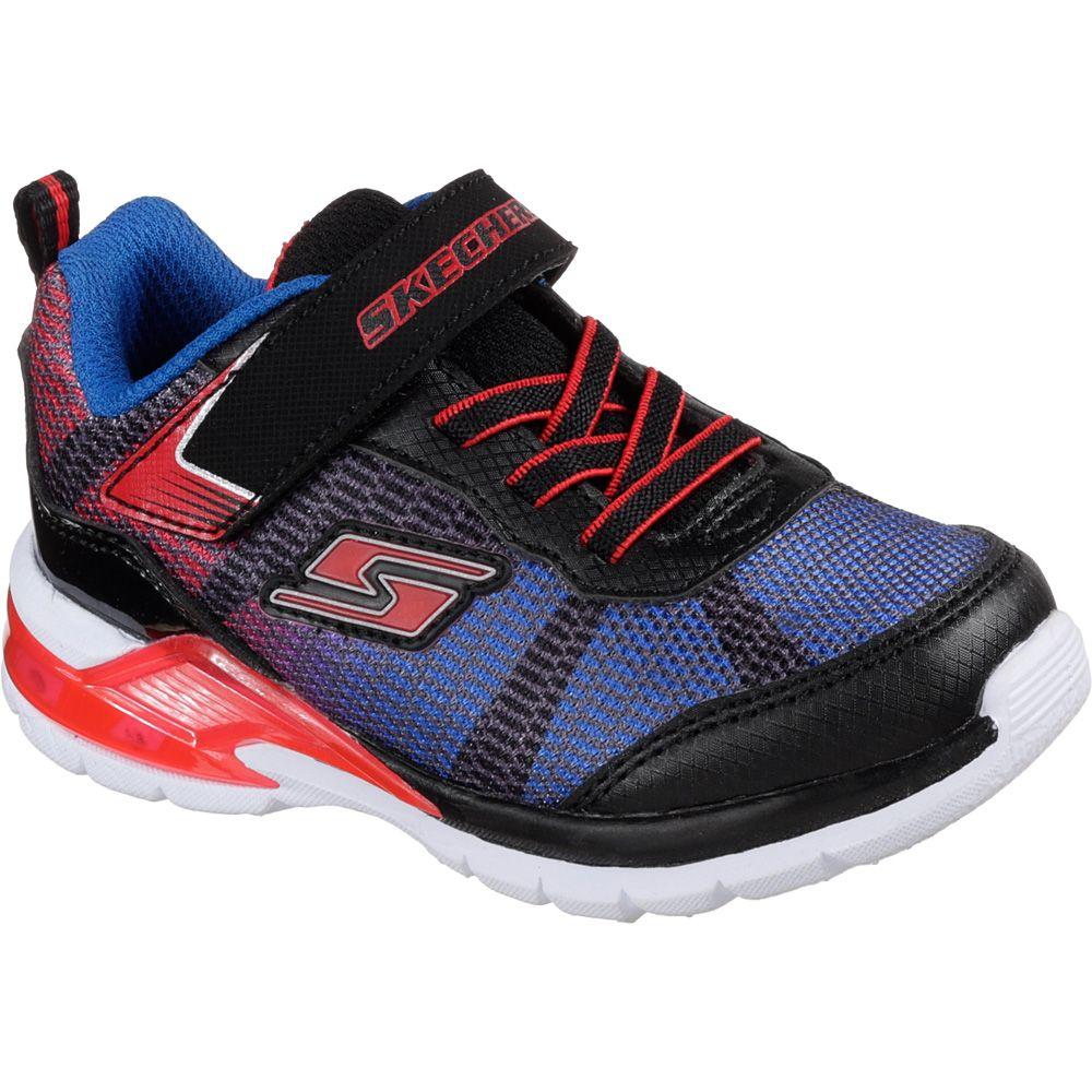 save off 53328 afd9a Skechers - S Lights Erupters II Lava Waves Sneaker Kinder schwarz rot blau