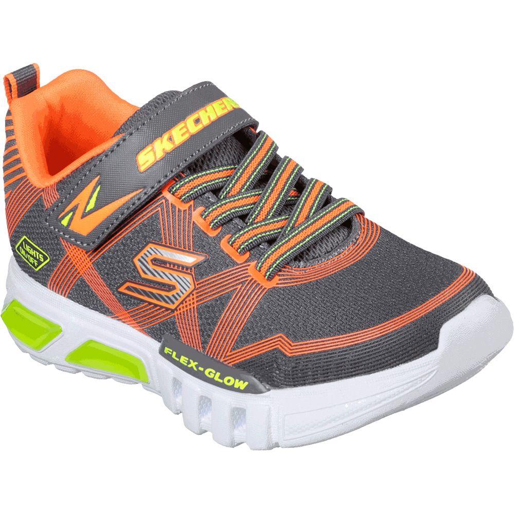 Flex-Glow Sneaker Kids grey orange