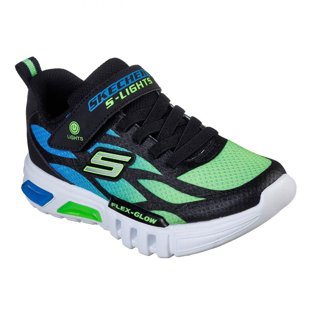 Skechers Flex Glow Dezlom Sneaker Kinder schwarz