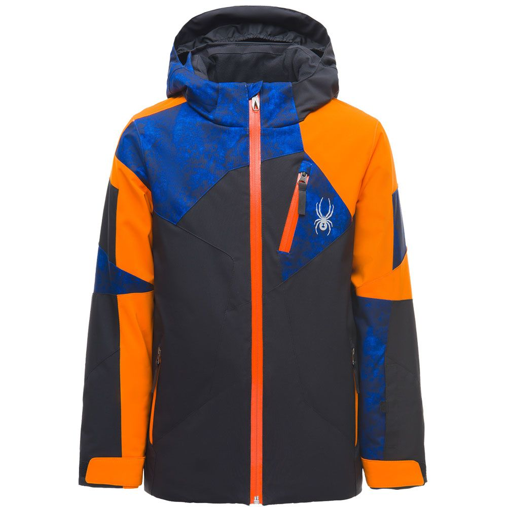 91d9ee00c585 Spyder - Leader Ski Jacket Boys black blue orange at Sport Bittl Shop