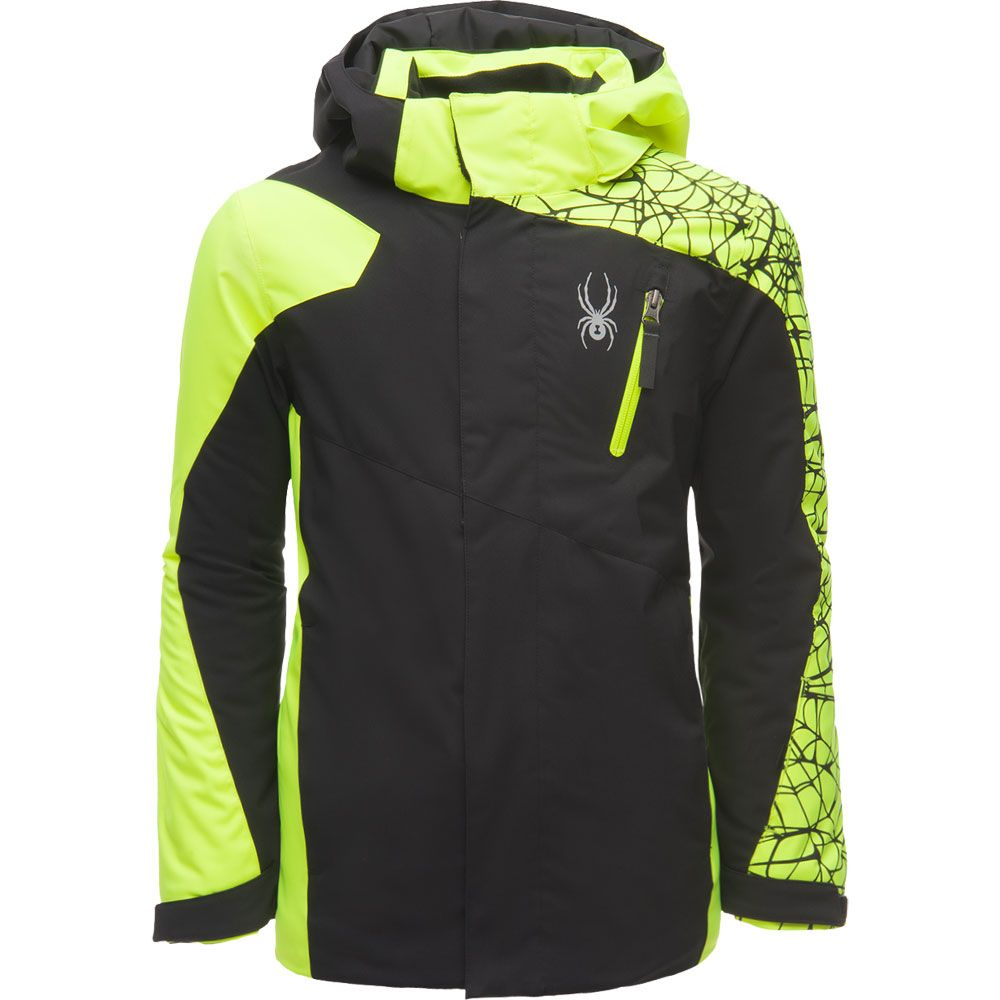 da0272e83c02 Spyder - Guard Ski Jacket Boys black yellow at Sport Bittl Shop