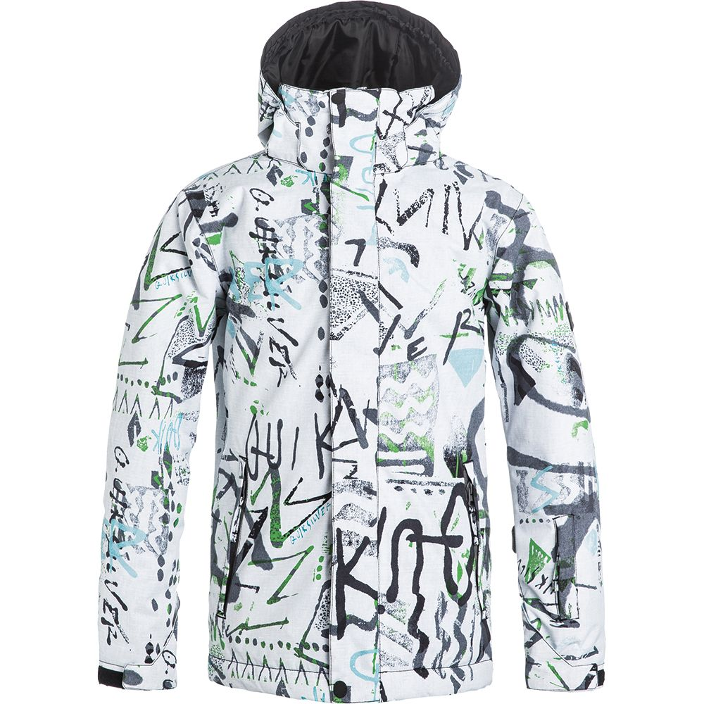 7f7b368a9 Quiksilver - Mission Printed Youth Jacket Boys hieline white at ...