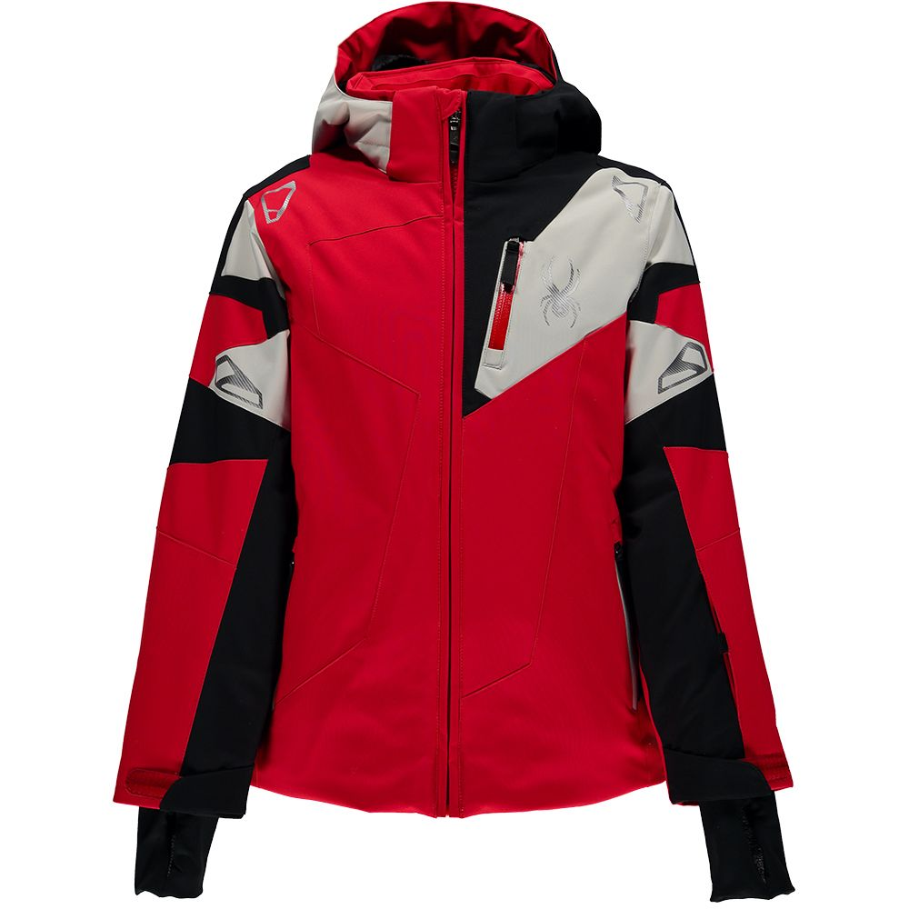 5b713cd06c0a Spyder - Leader Jacket Boys red black cirrus at Sport Bittl Shop