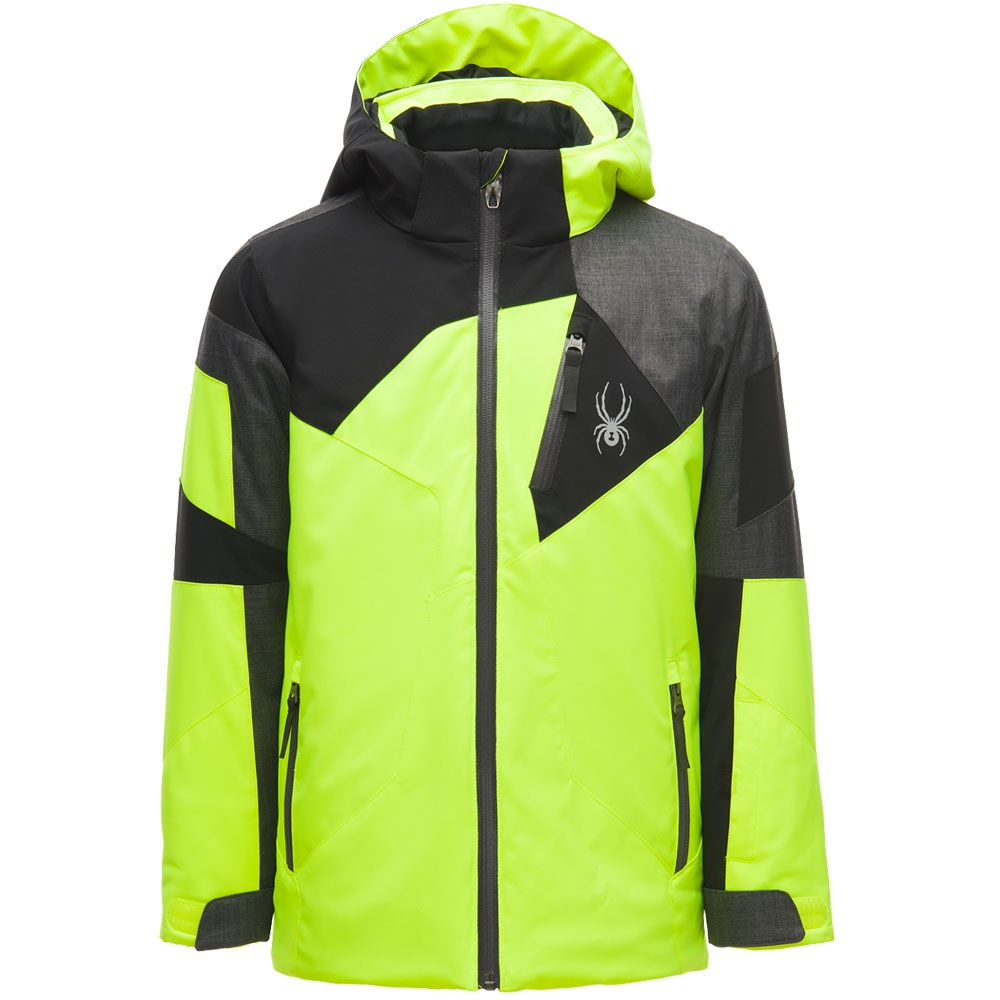 7b6cc887c727 Spyder - Leader Ski Jacket Boys yellow black