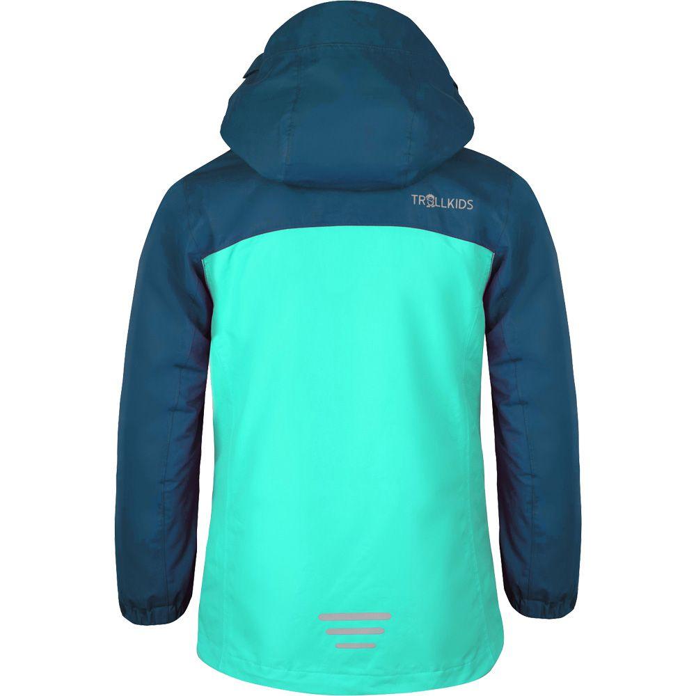 Bryggen 3in1 Softshell Jacket Girls midnight blue dark mint
