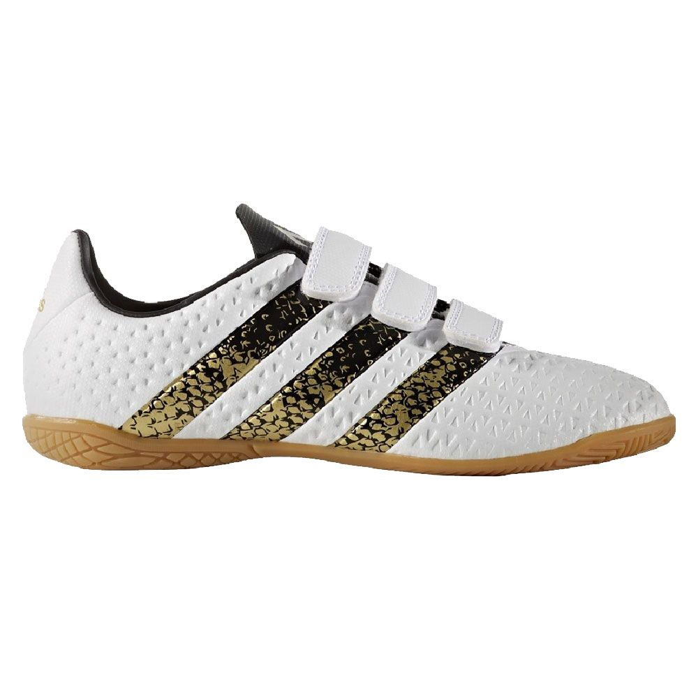 on feet shots of sneakers for cheap biggest discount adidas - ACE 16.4 In H&L Hallenschuhe Kinder weiß gold ...
