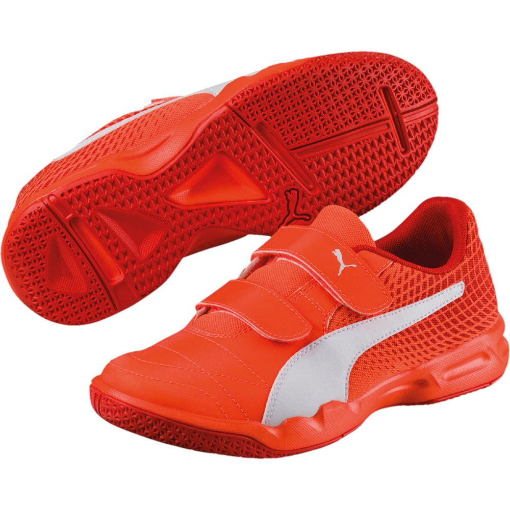 Puma Veloz Indoor NG V Schuhe Kinder shocking orange