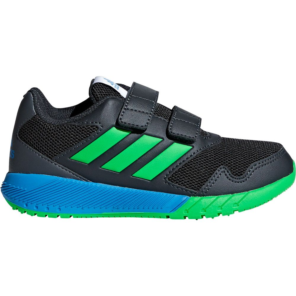 adidas AltaRun Laufschuhe Kinder carbon vivid green bright blue