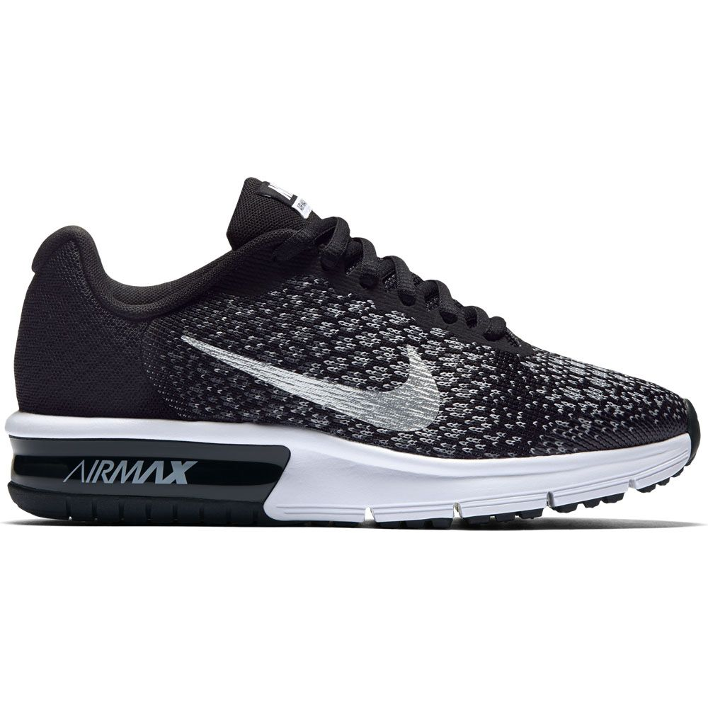 low priced 45155 d37cf Nike Air Max Sequent 2 (GS) Boys pure platinum cool grey wolf grey black