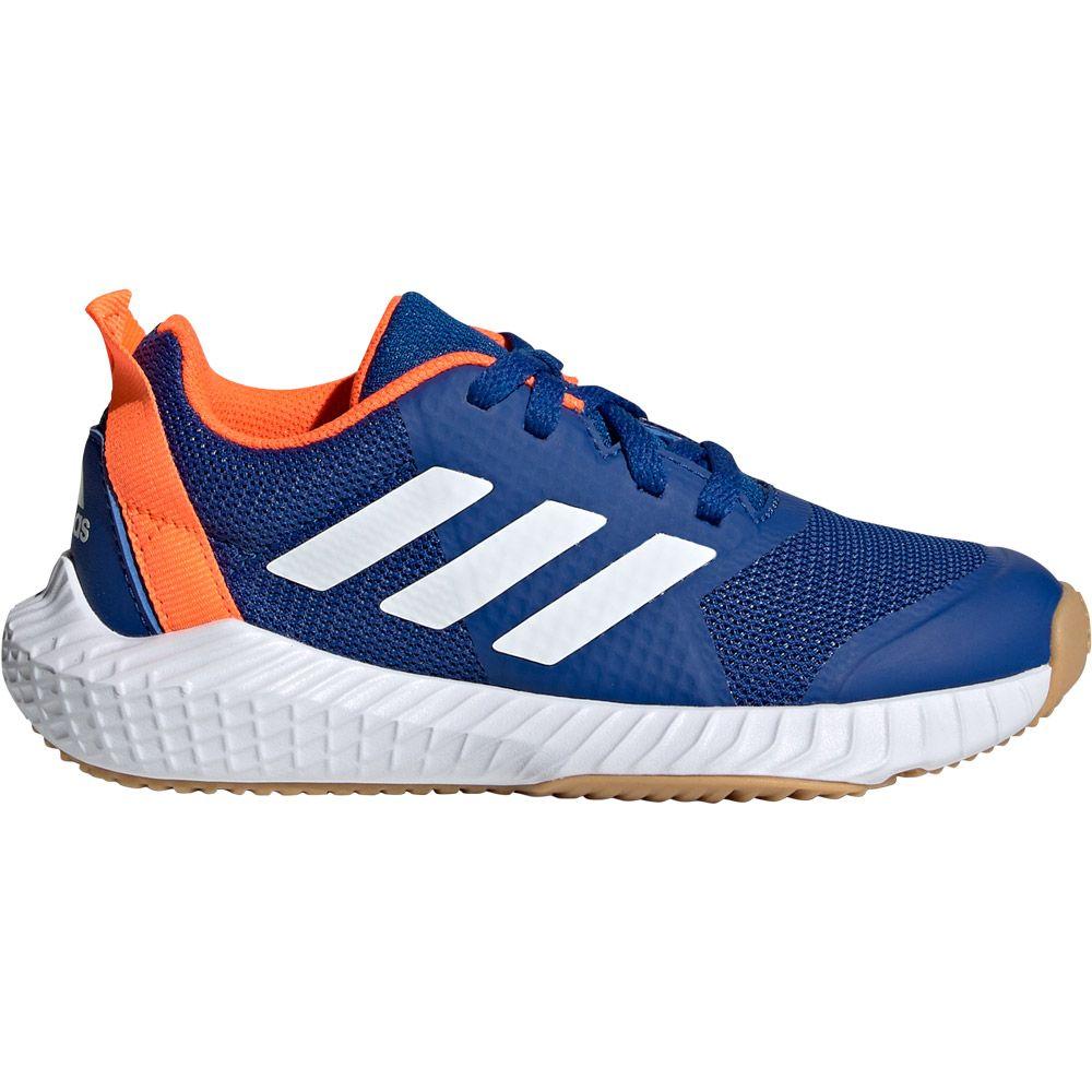 Adidas Fortagym K Hallenschuhe Kinder Collegiate Royal Footwear White Solar Orange