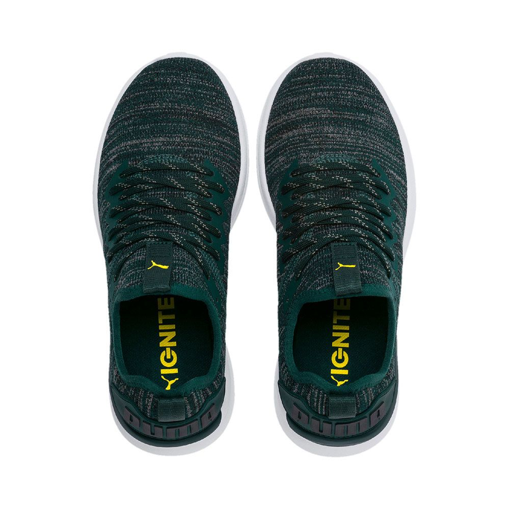 more photos 63213 9fa9f Puma - Ignite Flash evoKNIT Jr. Running Shoes Kids ponderosa pine blazing  yellow