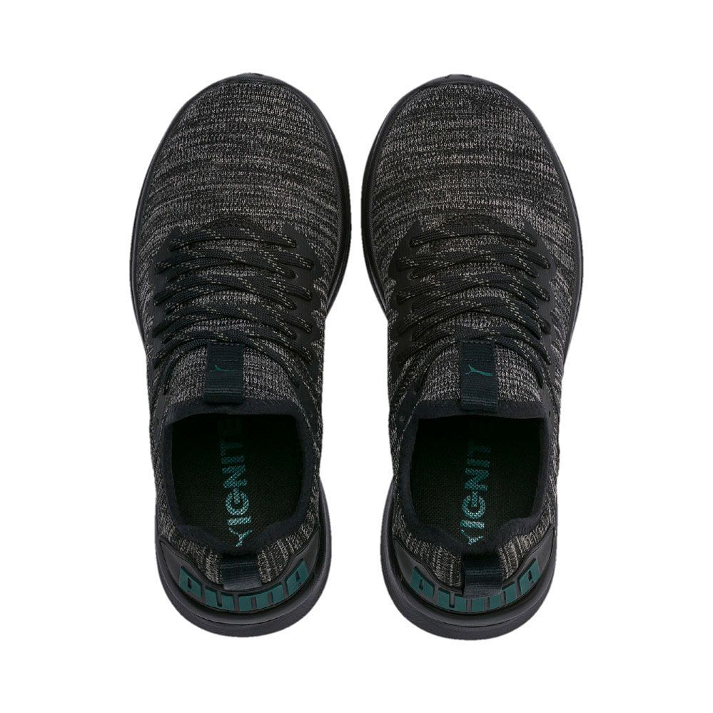 quality design 7ce30 6d95e Puma - Ignite Flash evoKNIT Jr. Running Shoes Kids puma black dark shadow  ponderosa pine