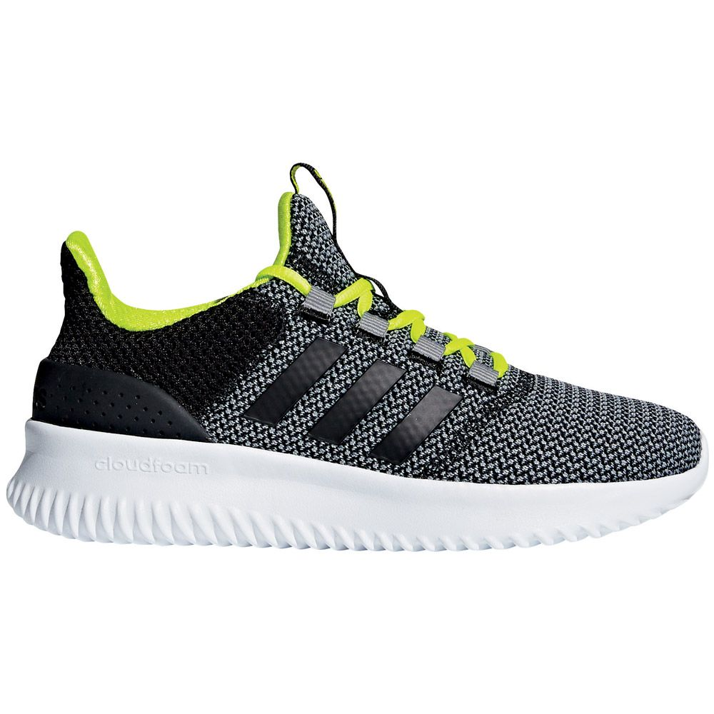 half off 548f0 0391d adidas Cloudfoam Ultimate shoes kids grey three core black solar yellow