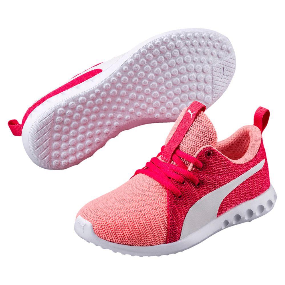 2 Puma Fluo White Soft Girls JrSports Shoes Peach Carson sCdtrhQ