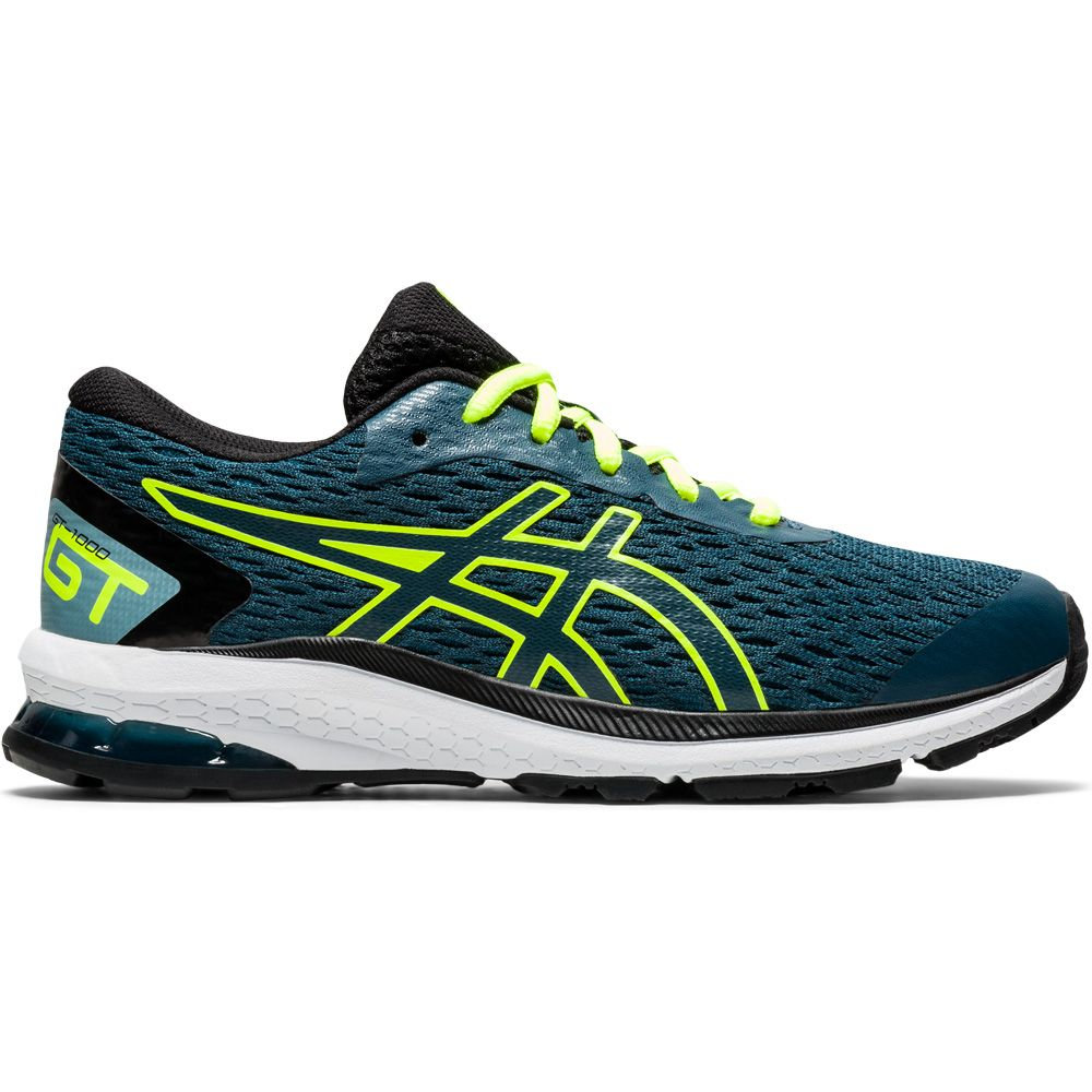climate Sure Publication  ASICS - GT-1000 9 GS Running Shoes Kids magnetic blue safety yellow at  Sport Bittl Shop