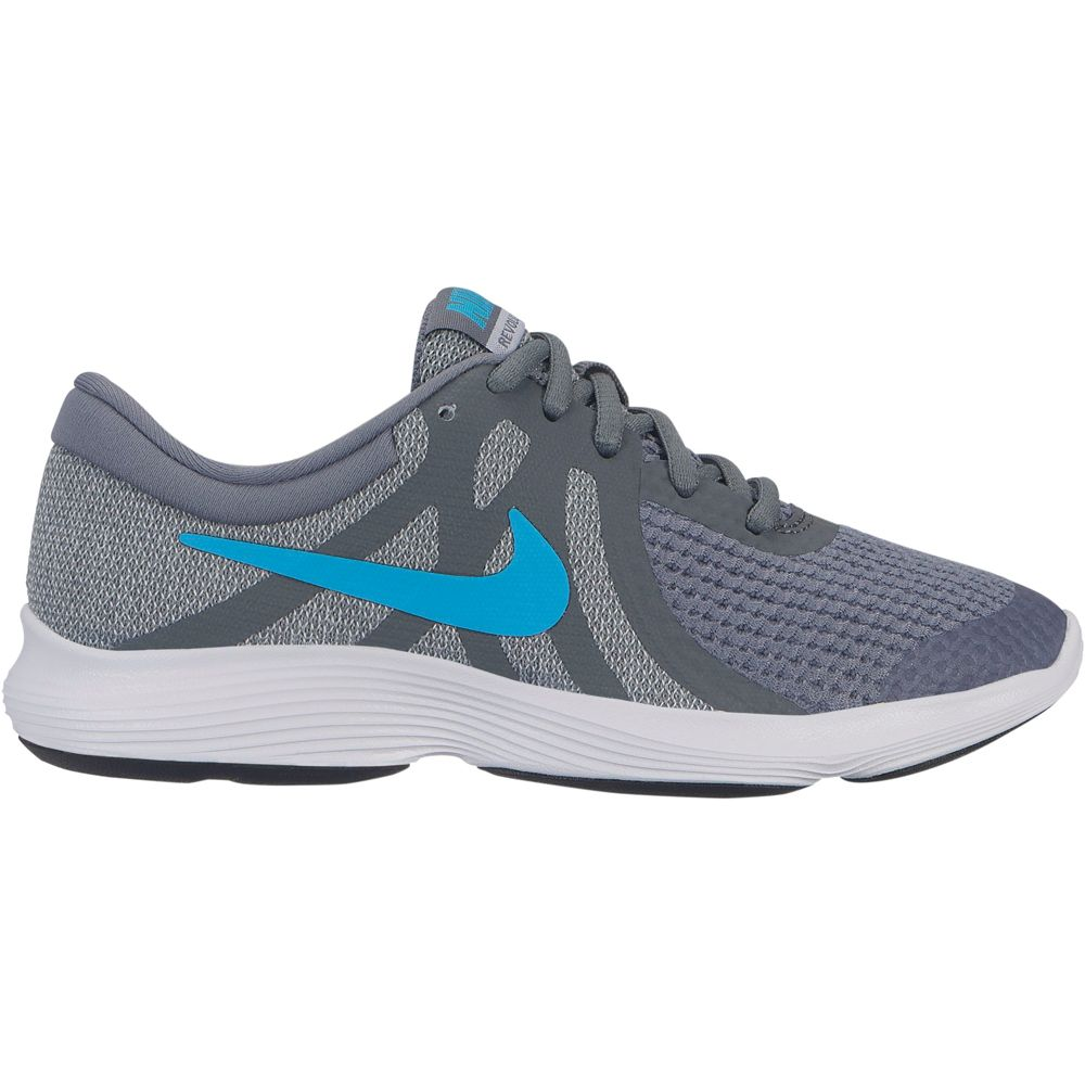 grey and blue nike revolution