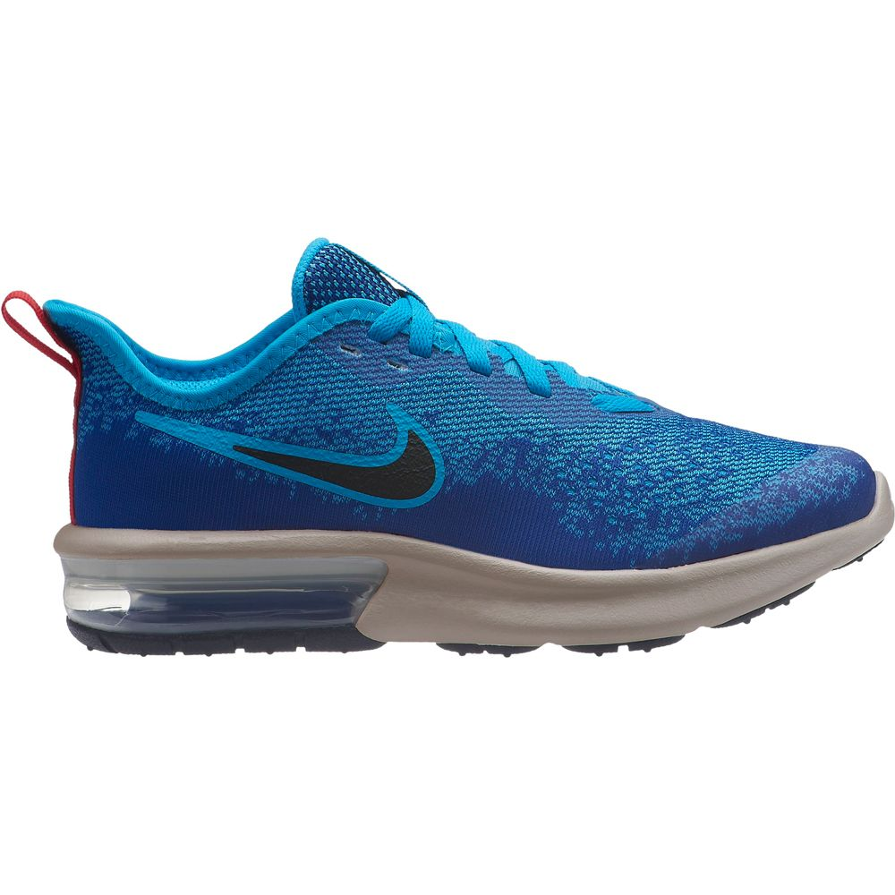 Nike Air Max Sequent 4 (GS) Running Shoes Kids inidgo force black light blue fur