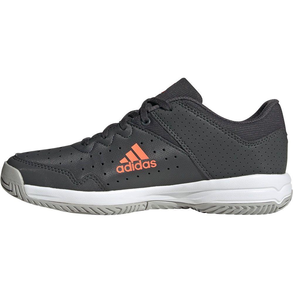 adidas Court Stabil Handballschuhe Kinder grey six signal coral grey two