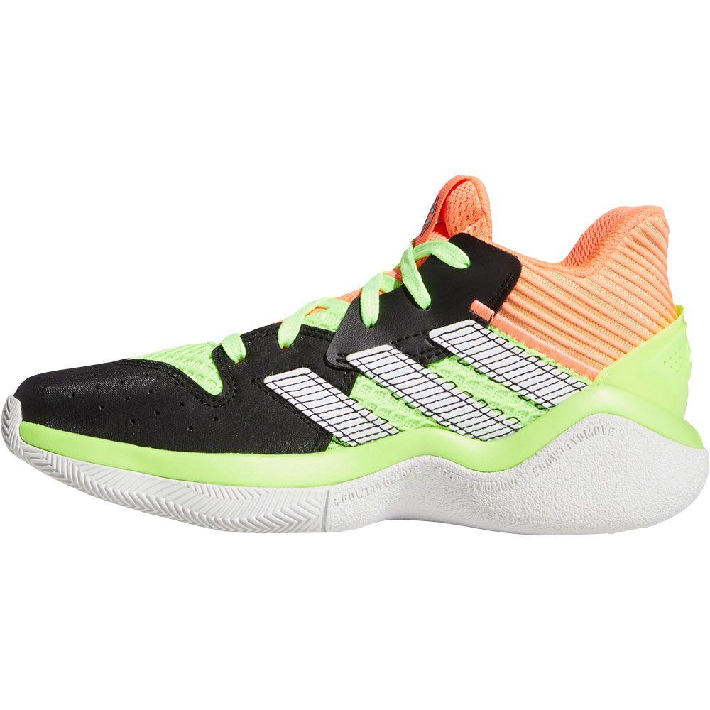 adidas Harden Stepback Basketballschuhe Kinder core black signal coral dash grey