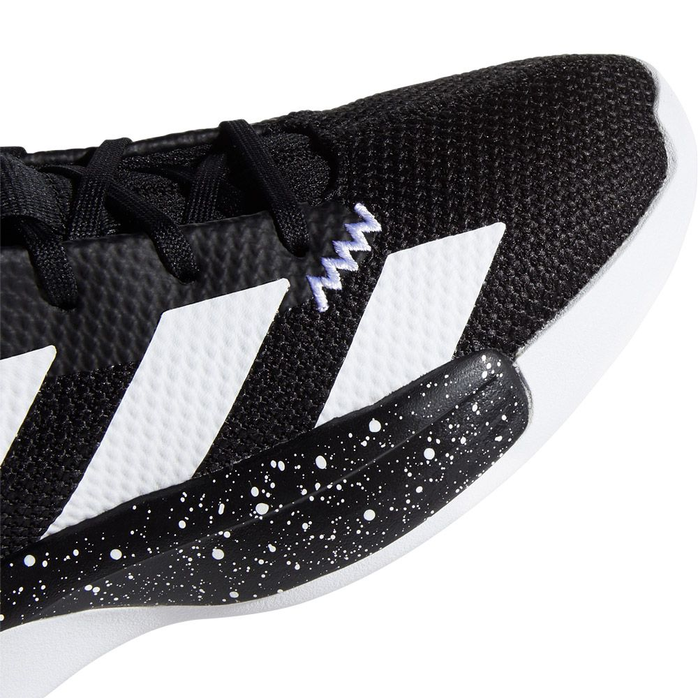 adidas Pro Vision Basketball Shoes Kids core black footwear white gold metallic