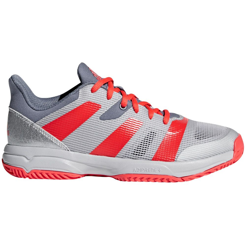 official photos bdd6a 35144 adidas - Stabil X JR Handball Shoes Kids raw steel hir-res red silver met