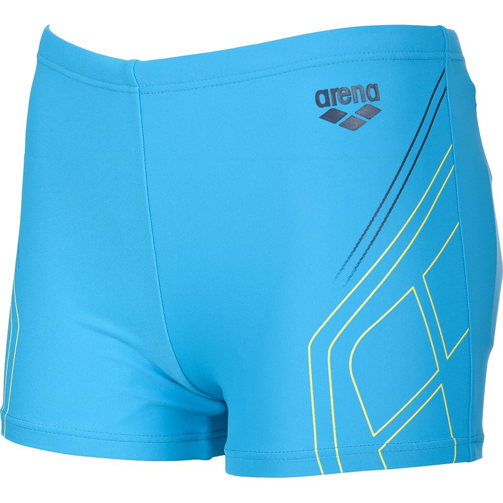 ab0ddd4e222f2 Arena - Caraiva JR Short Trunk Boys turquoise soft orange navy at ...
