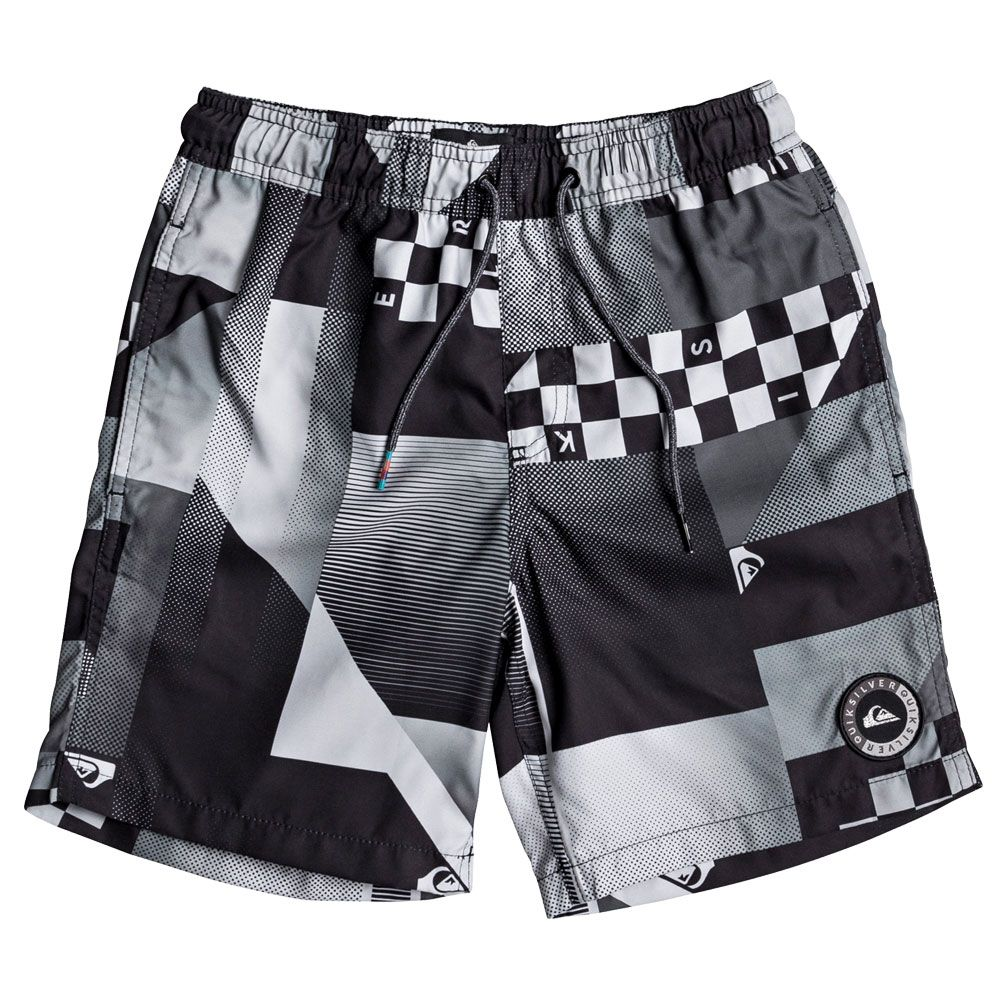 quiksilver checker remix volley badeshorts jungen. Black Bedroom Furniture Sets. Home Design Ideas