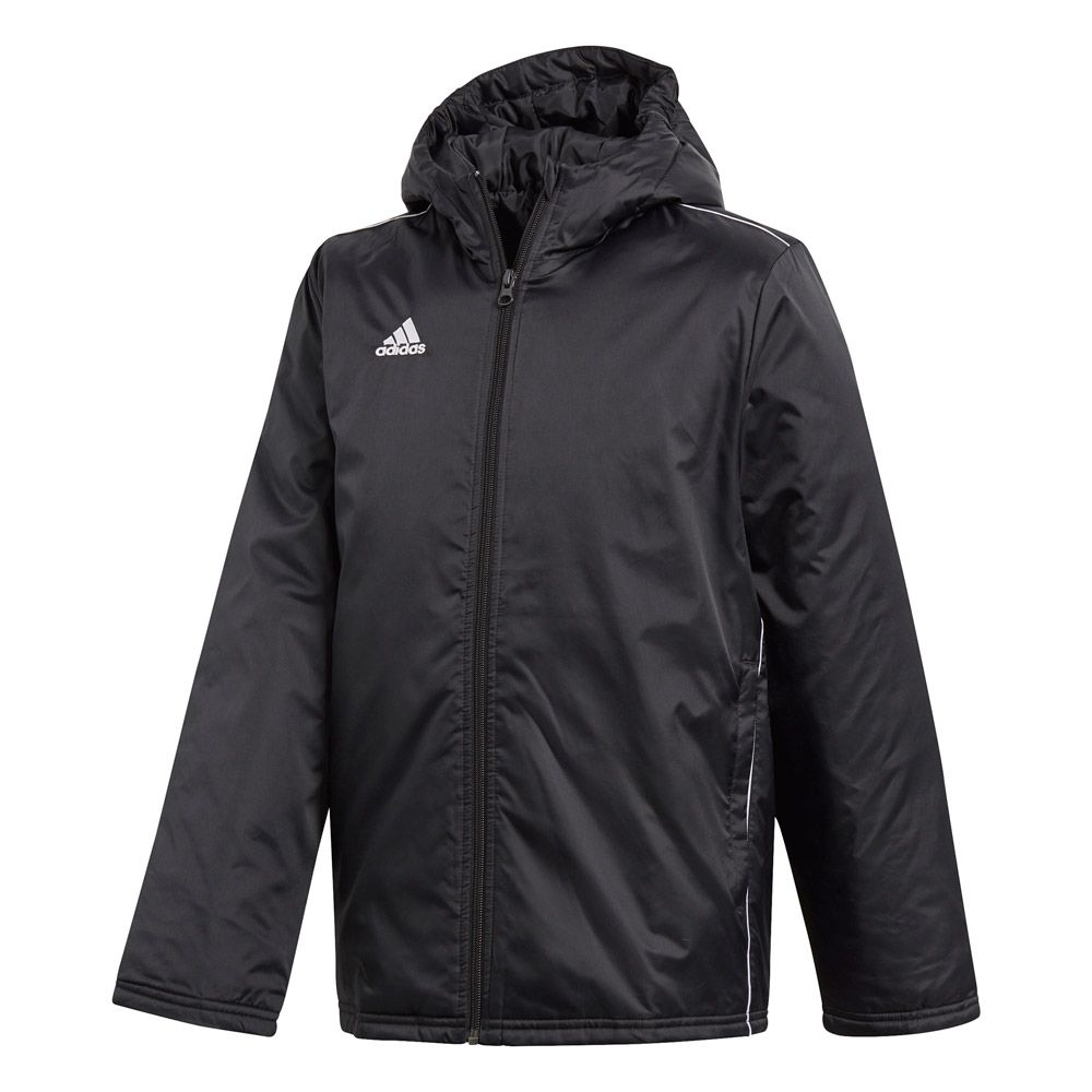 adidas Core 18 Stadium jacket kids black white