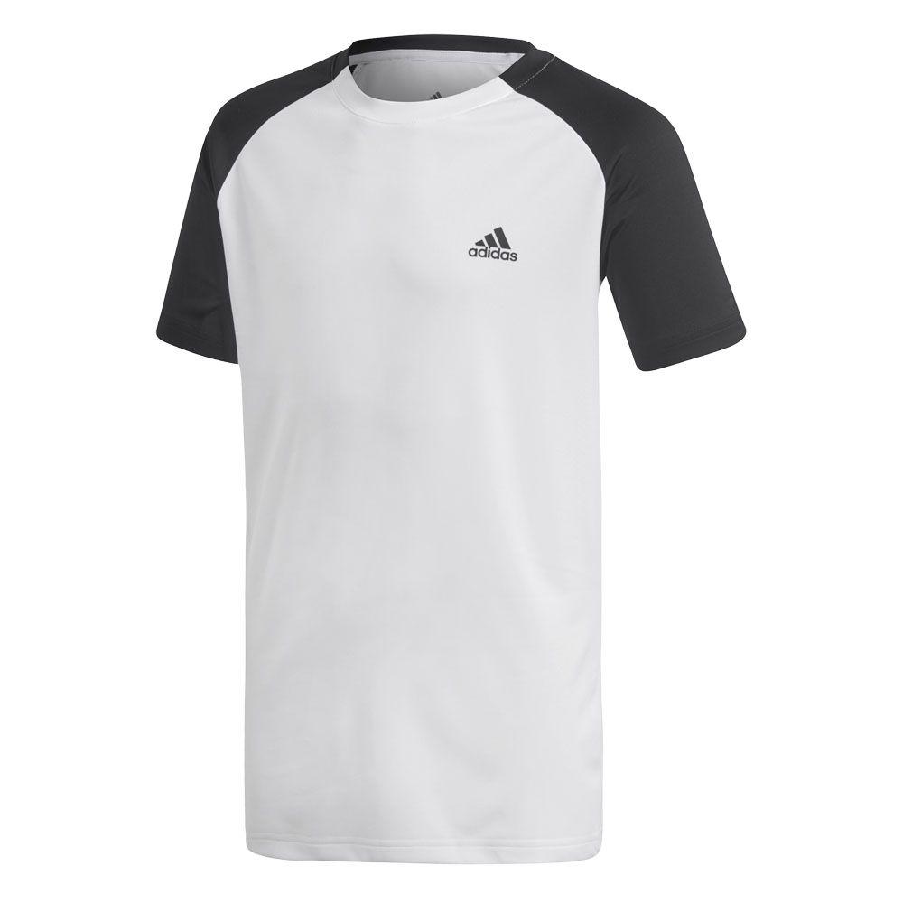 adidas Club T Shirt Jungen weiß schwarz