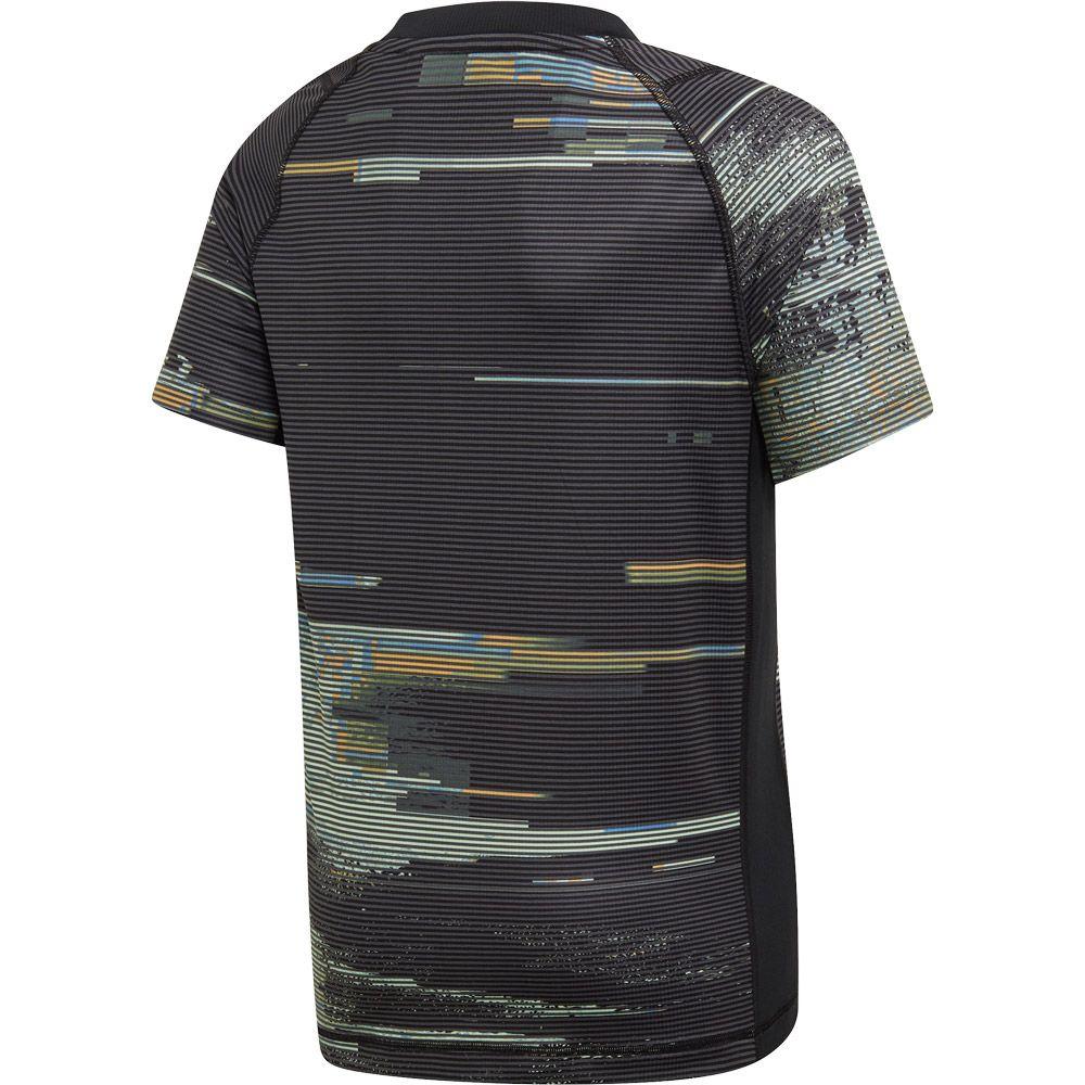 adidas New York Graphic T Shirt Jungen black grey three flash orange glow green