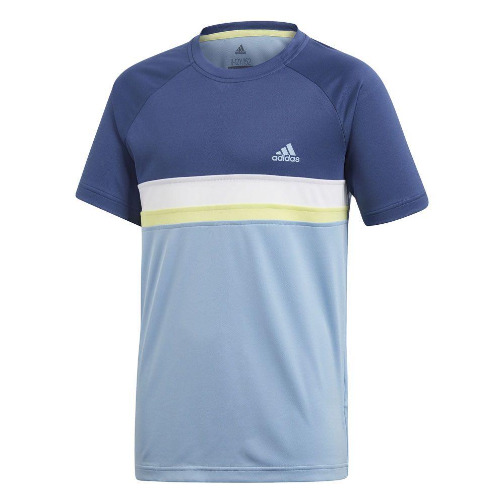 9a7501ea9d59c adidas - Colorblock Club T-shirt boys ash blue at Sport Bittl Shop