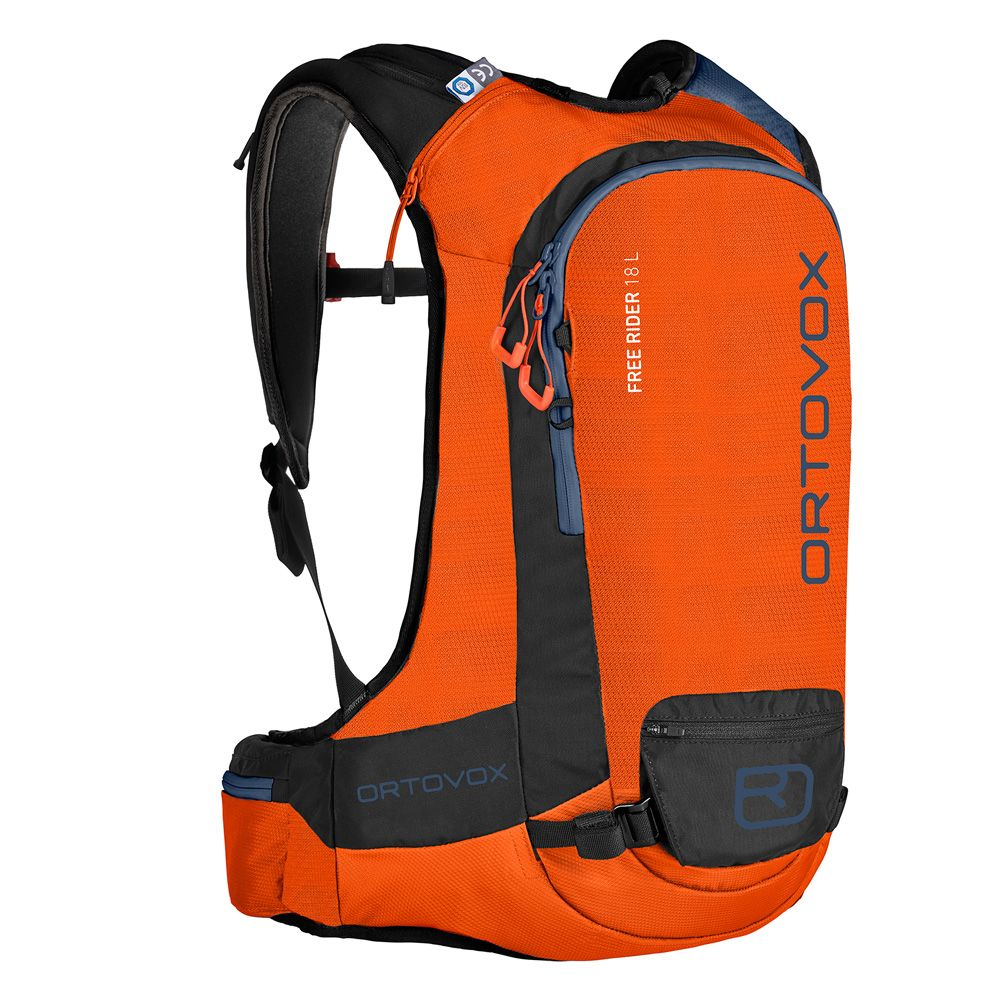 2d4a94bb0496 ORTOVOX - Free Rider 18L Touring Backpack crazy orange at Sport ...