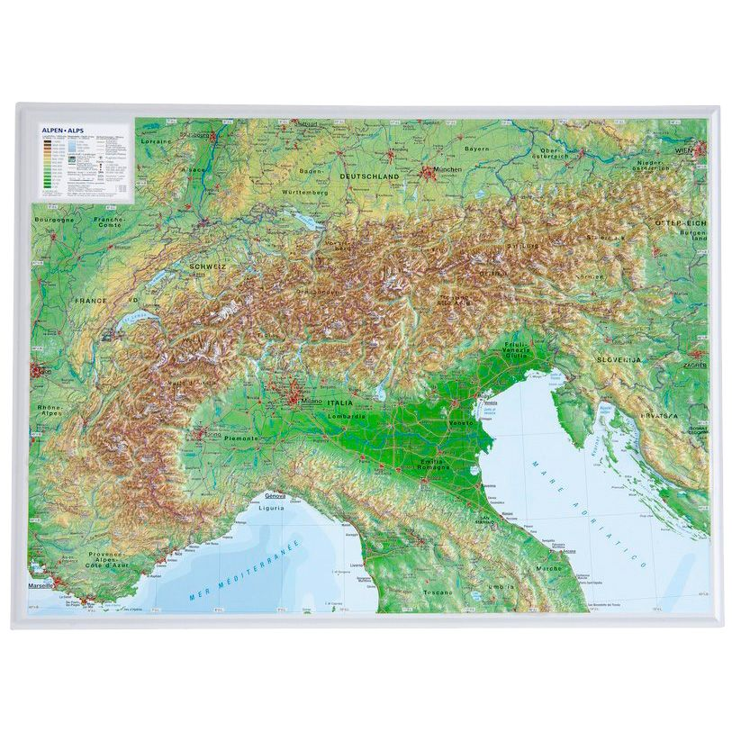 Georelief Alpen Small Without Frame At Sport Bittl Shop