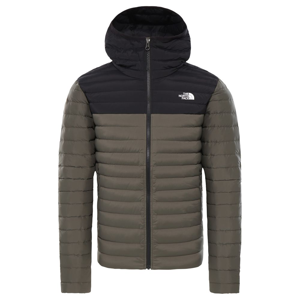 competitive price 454ec 96705 The North Face® - Stretch Down Jacket Men taupe tnf black