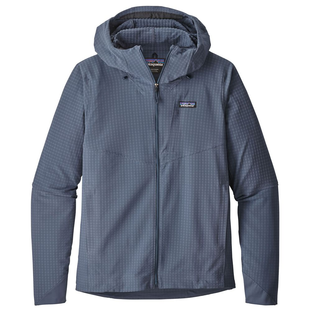 Patagonia - R1 Techface Hoodie Men dolomite blue at Sport Bittl Shop 94c5b145a