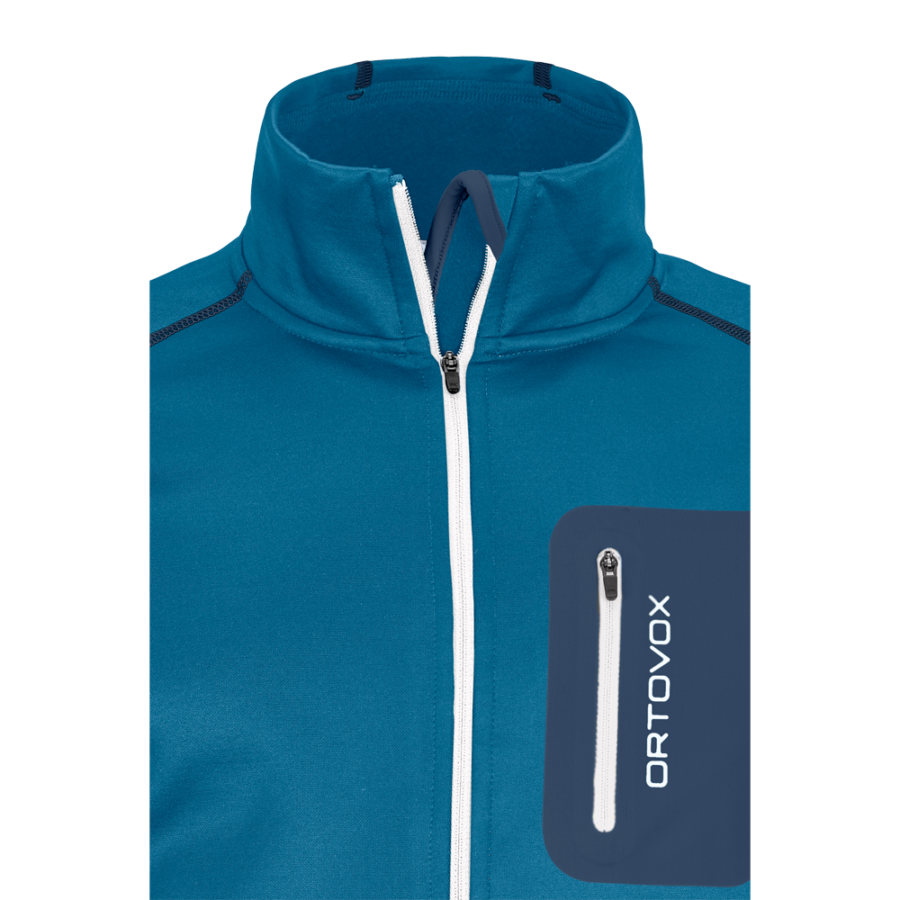 Ortovox Fleece Jacket Men Blue Sea At Sport Bittl Shop