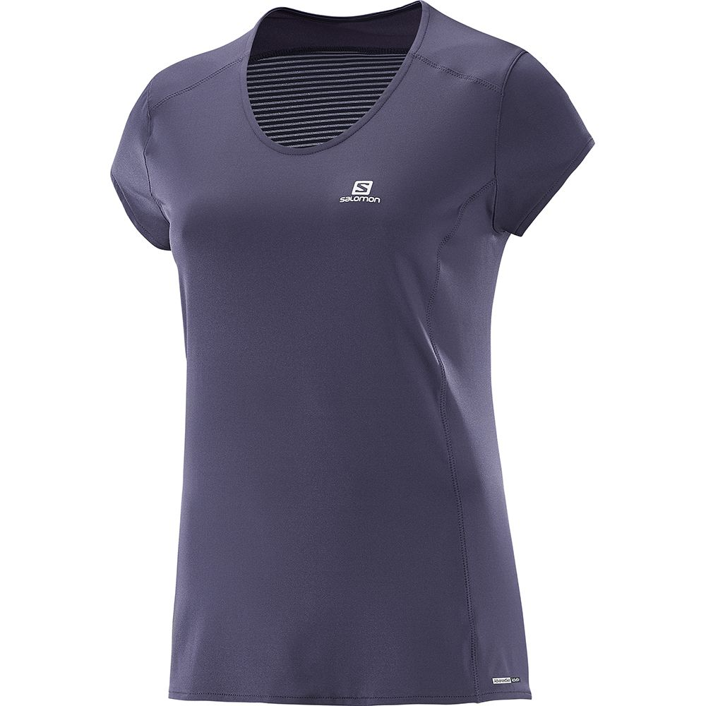 27d4c8e1bf Salomon - Comet Plus Short Sleeve Tee Women nightshade grey at Sport ...
