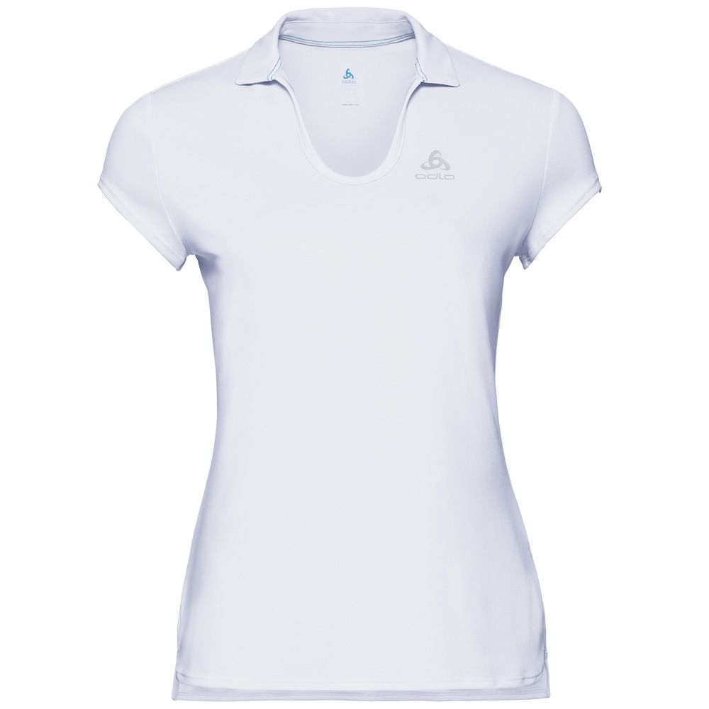 d5c48fe2ac1425 Odlo - Kumano Light Polo Shirt Women white at Sport Bittl Shop