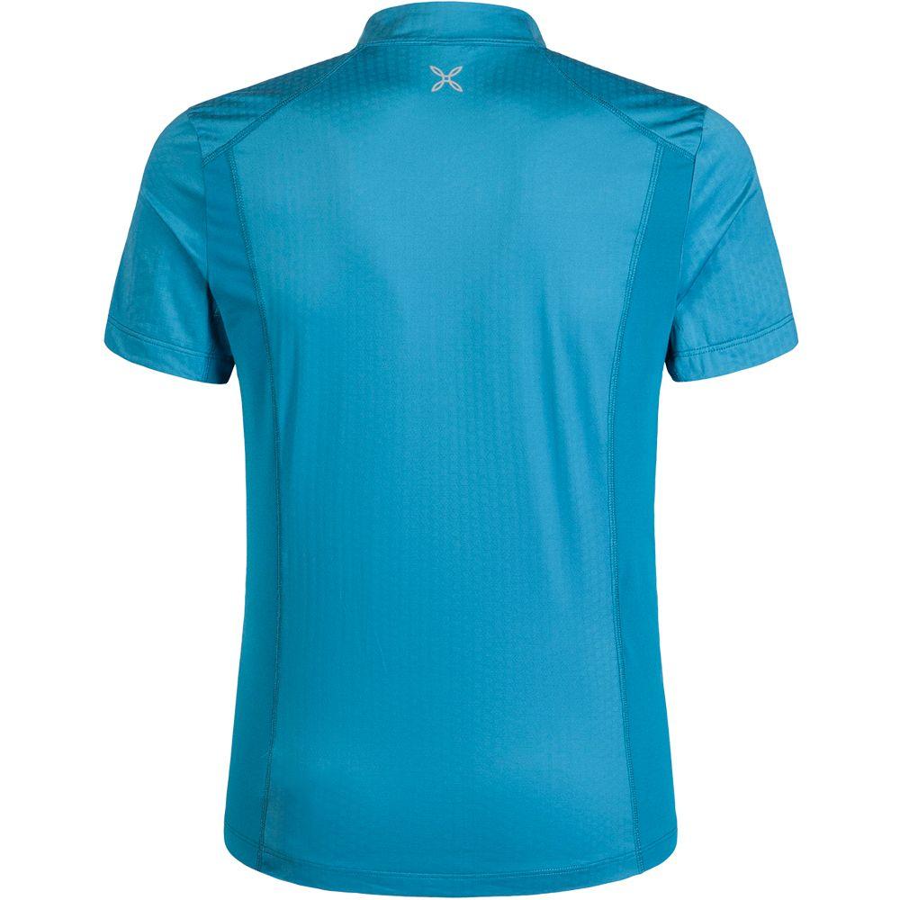 Combo Zip T-Shirt Herren blu ottanio rosso