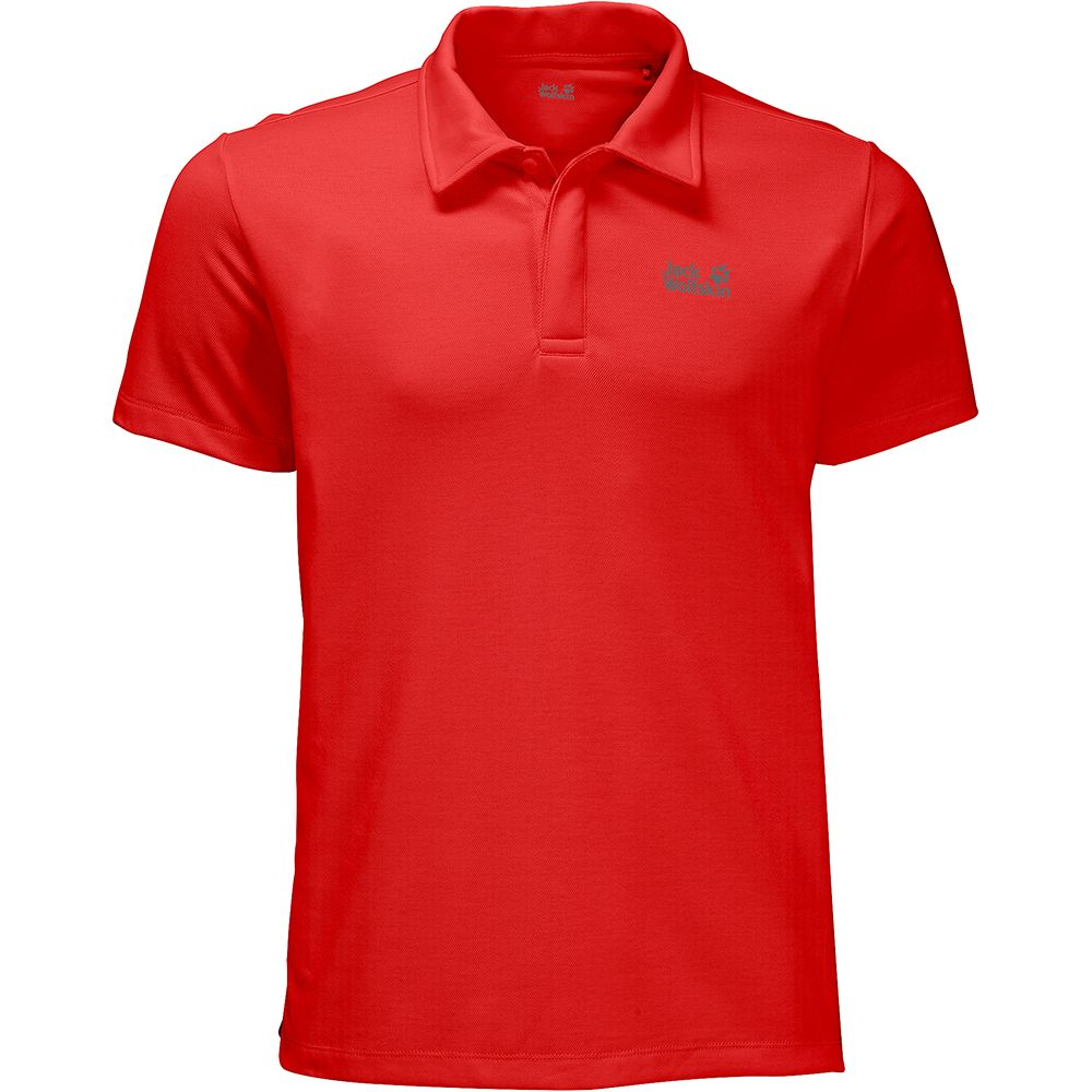Jack Wolfskin Three Towers Polo Men fiery red at Sport